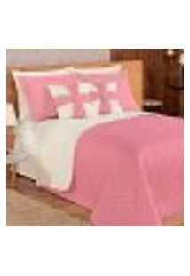 Cobre Leito Rosê Dupla Face 7 Peças Com Porta Travesseiros S Almofadas Decorativas Para Cama