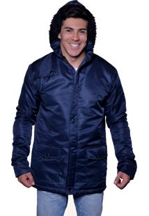 Jaqueta Casaco Carbella Impermeável Com Capuz Azul Escuro