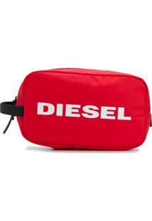 Diesel Carteira Com Zíper - Vermelho