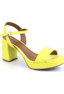 Sandália Emporionaka Alto Napa Bogota Feminina - Feminino-Amarelo