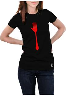Camiseta Hunter Garfo Preta