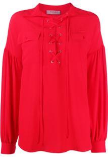 Twin-Set Blusa Com Amarração - Vermelho