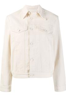 Calvin Klein Pointed Collar Trucker Jacket - Neutro