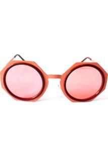 Óculos De Sol Cayo Blanco Redondo Feminino - Feminino-Rosa