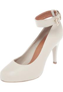 Scarpin Dafiti Shoes Tornozelo Off-White