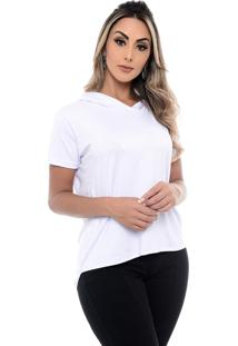 Blusa M/C B'Bonnie Com Capuz Ravena Branca - Branco - Feminino - Dafiti