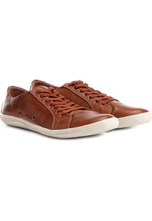 Sapatênis Shoestock Couro Ii Masculino - Masculino-Caramelo