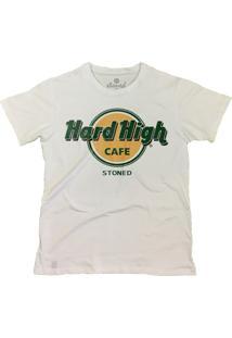 Camiseta Manga Curta Stoned Hard High Café Branco