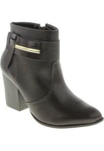 Bota Ramarim Ankle Boot - Feminino-Marrom