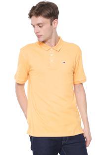 Camisa Polo Tommy Jeans Reta Classics Amarela