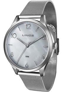 Relógio Lince Analógico Lrm4394L-B2Sx Feminino - Feminino-Prata
