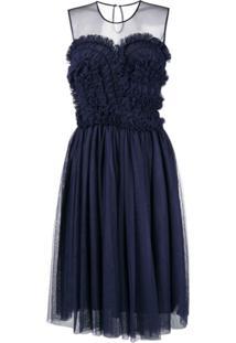 P.A.R.O.S.H. Vestido Evasê - Azul