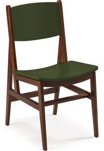 Cadeira Dumon 87 Cm 951 Cacau/Verde Musgo - Maxima