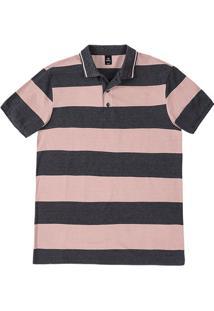 Camisa Polo Masculina Básica Listrada Comfort Em Algodão