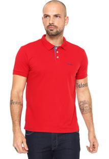 Camisa Polo Wrangler Reta Wrangler Vermelha