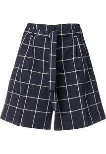 Ps Paul Smith Short Xadrez - Azul