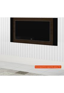 Painel Extensível Para Tv Até 55 Polegadas Duetto Canela E Preto