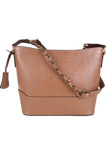 617d4a3aa Zattini. Bolsa Caramelo Feminina Shoestock Couro ...