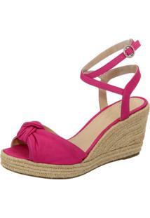 Sandalia Clave De Fa Anabela Pink - Pink/Rosa - Feminino - Dafiti