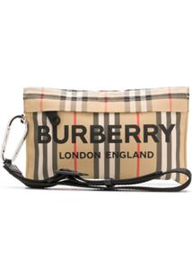 Burberry Clutch Xadrez Vintage - Neutro