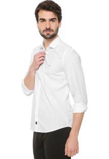 Camisa Aramis Slim Padronagem Branca