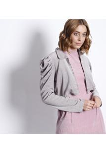 Jaqueta Em Plush Com Pregas - Lilás- Le Fixle Fix