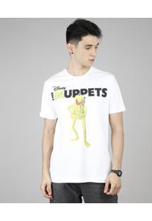Camiseta Masculina Os Muppets Manga Curta Gola Careca Off White