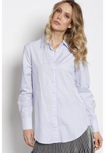 c0ba47662 ... Camisa Gloria Listrada - Azul   Branca - Le Lis Blanle Lis Blanc