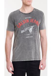 Camiseta Ckj Mc Calvin Klein Jeans Tour- Preto - Pp