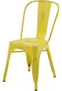 Cadeira Iron Tolix Sem Braco Vintage Amarela - 28343 - Sun House