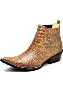 Botina Bota Country Bico Fino Top Franca Shoes Nozes