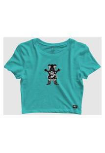 Camiseta Grizzly Og Bear Bandana S/S Tee Cropped Celadon