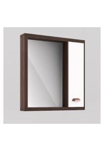 Espelheira Banheiro 65Cm Castaine Porta Branca Lilies Móveis