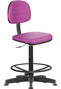 Cadeira Caixa Alta Secretária Giratória Courvin Lilás