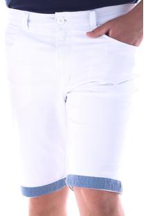 Bermuda 670 Sarja Branca Traymon Modelagem Slim