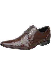 Sapato Malbork Masculino Em Couro Com Elástico Marrom