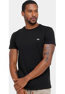 Camiseta Lacoste Básica Jersey Masculina - Masculino-Preto