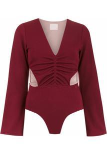 Framed Body 'Malibu' Recortes - Vermelho