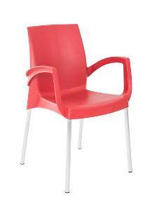 Cadeira Viena Confort Plastico Polipropileno Vermelha