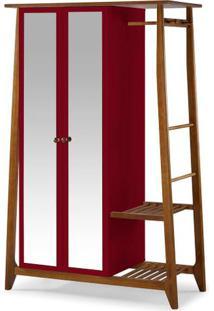 Armario Multiuso Stoka 2 Portas Grena Estrutura Amendoa 169Cm - 60973 - Sun House