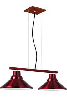 Pendente 6032 Redondo Duplo Vermelho