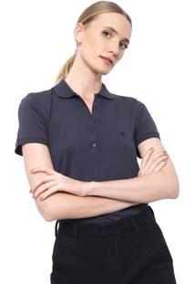 Camisa Polo Dudalina Lisa Azul-Marinho
