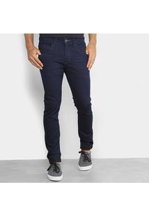 Calça Jeans Skinny Rock & Soda Lavagem Escura Masculina - Masculino-Marinho