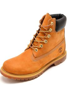 Bota Couro Timberland Yellow Boot W 6In Premium Boot Wp Caramelo