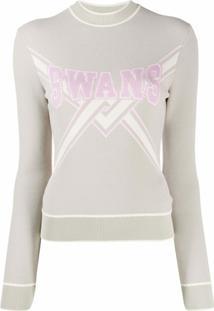 Off-White Suéter De Tricô 'Swans' - Neutro