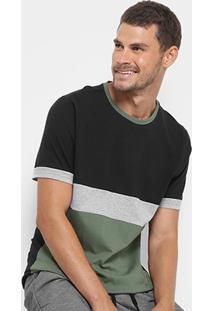 Camiseta Burn College Recortes Masculina - Masculino