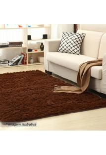Tapete New Shaggy- Marrom- 150X100Cm- Camesacamesa