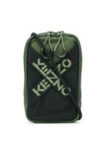Kenzo Bolsa Mini Com Logo - Verde
