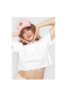 Camiseta Cropped Forever 21 Lisa Branca