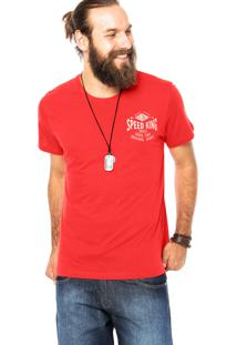 Camiseta Colcci Speed King Vermelha